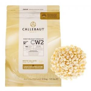 """Шоколад белый """"Callebaut"""" 25,9%, каллеты, (250г)"""
