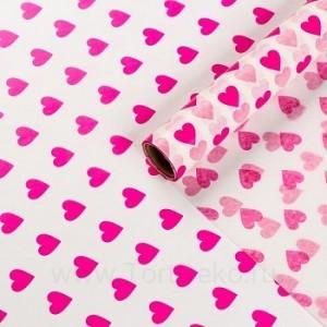 Бумага силиконизированная «Сердце», 0,38 х 5 м