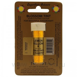Цветочная пыльца Sugarflair Lemon Yellow D107 (Лимонно-желтая) 7 мл
