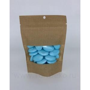 """Драже сахарное """"Перламутровые капли голубые с шоколадом"""", 100г"""