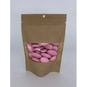 """Драже сахарное """"Перламутровые капли розовые с шоколадом"""", 100г"""