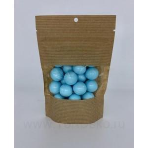 """Драже сахарное """"Перламутровые шары голубые, с шоколадной начинкой"""", 100 г"""