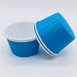 """Форма бумажная """"Маффин"""" 50*40 мм (голубой), 20 шт"""