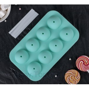 "Форма для леденцов и мороженого, 8 ячеек, 2 части,19,5х11,7х3,5 см ""Чупик"" с палоч, цвет МИК"