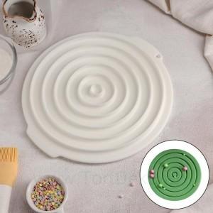 Форма для муссовых десертов и выпечки «Слои», 27×25,5 см, цвет белый