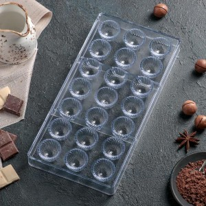 "Форма для шоколада 21ячейка ""Комильфо"" 28х14х2,5см"