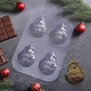 """Форма для шоколада """"Мини дед мороз"""""""