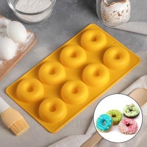 """Форма для выпечки 8 ячеек """"Сладости.Пончики"""" 29х17х2 см цвет МИКС"""