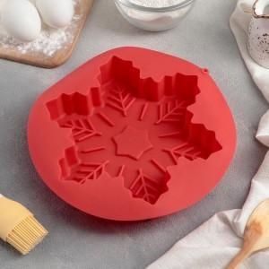 """Форма для выпечки """"Снежинка"""" 22,5х3,5 см, цвета МИКС"""