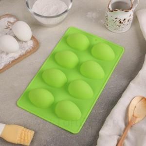 Форма для выпечки «Яйца», 8 ячеек, 28х17х1,5 см