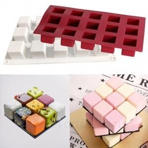 Форма силиконовая «Кубик», 15 ячеек