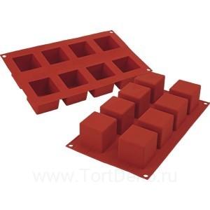 Форма силиконовая «Кубик», 8 ячеек
