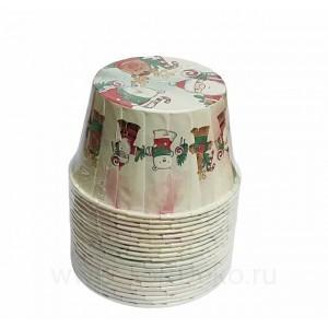 """Формы бумажные """"Маффин"""", 50х40 мм, 20 шт, с ламинацией (Веселый новый год)"""
