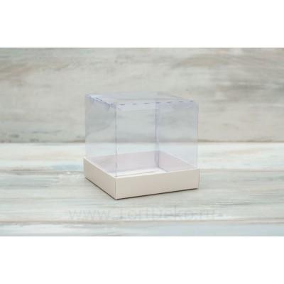 К100 Коробка с прозрачным куполом, 80*80*80мм, белый
