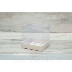 К101 Коробка с прозрачным куполом 100*100*100мм, белый