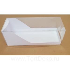 К113 Коробка для рулета прозрачная, размер 300х110х110 мм, белая