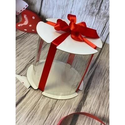 К114 Коробка для торта прозрачная (цилиндр), d=160 мм, h=160 мм