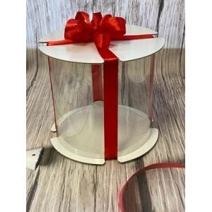 К120 Коробка для торта прозрачная (цилиндр), d=200 мм, h=200 мм