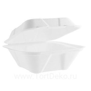 """К129 Коробка для """"Бенто Торта"""" из сахарного тростника (большая)"""