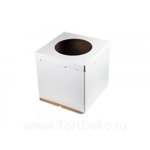 К13 Короб картонный белый с окном 320*320*350мм