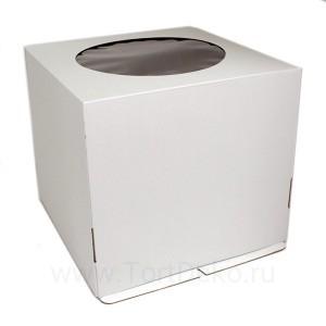 К15 Короб картонный белый с окном 240*240*260мм