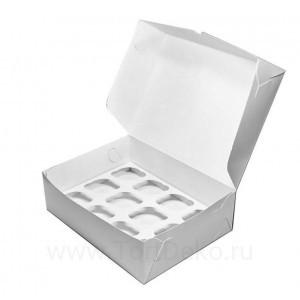 К19 Коробка на 12 капкейков, белая, 330*250*100 мм