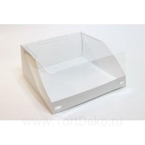 К27 Короб для тортов с прозрачной крышкой 225*225*100мм (Pasticciere)