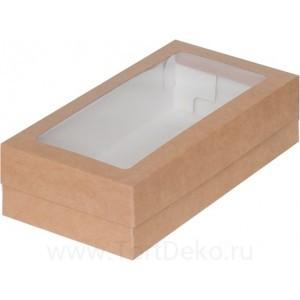 К44 Коробка для макарон с окном 210*110*55 мм, крафт