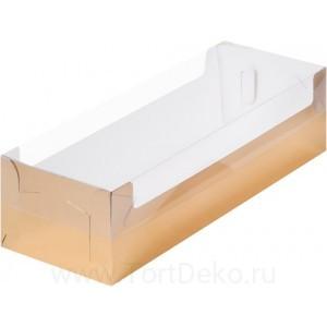 К48 Коробка под рулет с пластиковой крышкой 300*110*80, золото