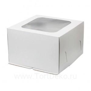 К65 Короб картонный белый с окном, 300*300*190мм