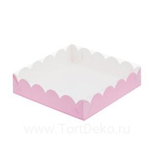 К83 Коробка для печенья и пряников, розовая матовая, 155*155*35 мм
