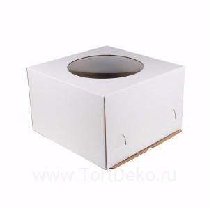 К84 Короб картонный, белый, с окном, 260*260*280мм
