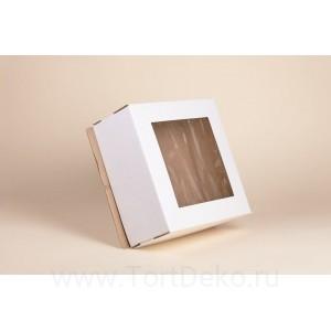 К93 Короб картонный, белый, с окном, 420*420*290мм