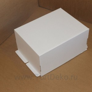 К94 Коробка под торт, белая, 400*300*200мм