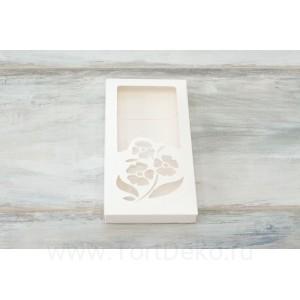 """К97 Коробка для шоколадной плитки 16 х 8 х 1,7 см, """"Весенние цветы"""""""