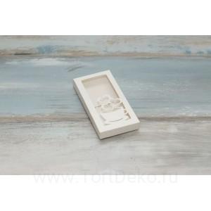 "К99 Коробка для шоколадной плитки 16 х 8 х 1,7 см, ""3 сердца"""