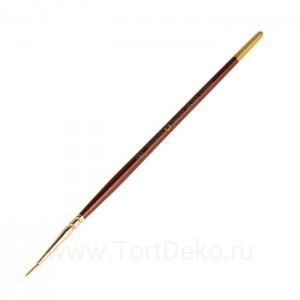 Кисть Синтетика Круглая ЗХК Decola №00 d-1,2мм