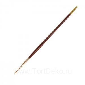 Кисть Синтетика Круглая ЗХК Decola №000 d-1мм