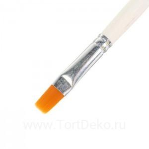 Кисть Синтетика Плоская №10 (d-10 мм ; L-13 мм) ручка дерево Calligrata
