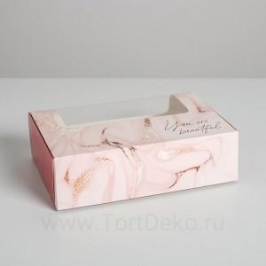 Коробка для эклеров с вкладышами - 5 шт, 25,2 х 15 х 7 см