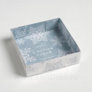 Коробка для кондитерских изделий Let it Snow, 12 × 12 × 3 см