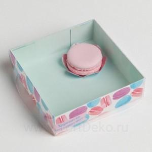 Коробка для кондитерских изделий с PVC крышкой «Хорошего настроения», 12 х 12 х 3,5 см