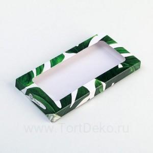 Коробка для шоколада Nature, с окном, 17,3 × 8,8 × 1,5 см