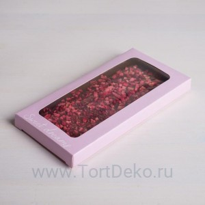 Коробка для шоколада Sweet dreams, с окном, 17,3 × 8,8 × 1,5 см