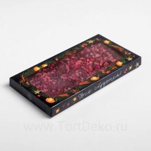 Коробка для шоколада «Зима - время чудес», с окном, 17,3 × 8,8 × 1,5 см