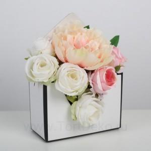 Коробка-письмо «В прекрасном мире цветов», 14 × 20 × 6,5 см
