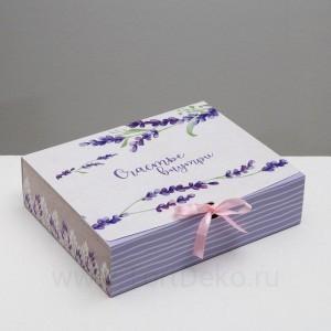 Коробка подарочная «Счастье внутри», 31 х 24,5 х 9 см