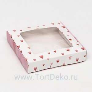 """Коробка самосборная, """"Краски любви"""", 16 х 16 х 3 см"""