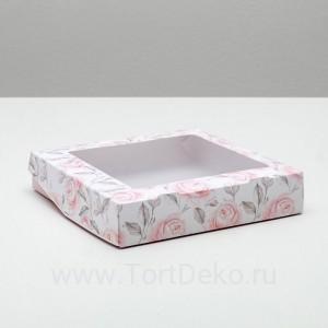 Коробка складная Flowers, 20 × 20 × 4 см