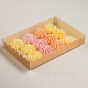 Коробочка для печенья, золотой, 22 х 15 х 3 см